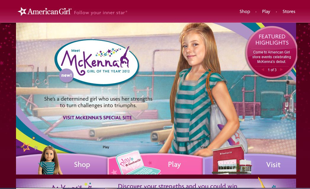 mckenna girls American girl mckenna doll she is super awesome if you have a daughter or any kind of little girl in your family this would be great for them😊.